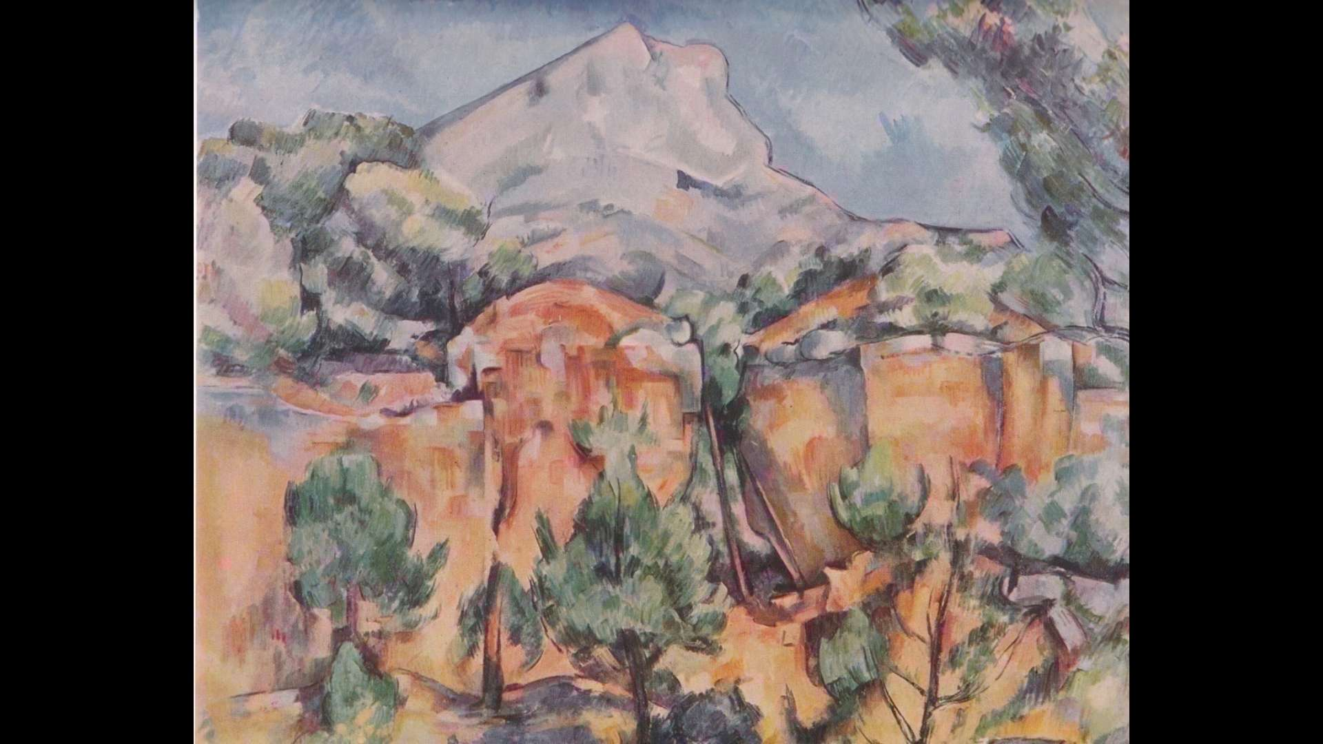 Paul Cézanne. THE MONTAGNE SAINTE-VICTOIRE, as seen from the Bibémus quarries, 1898-1900, oil on canvas, Baltimore Museum of Art. Photography by Mitro Hood.